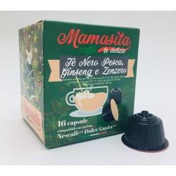Mamasita Caffè Dgu Tè Nero Pesca, Ginseng e Zenzero CAPSULE COMPATIBILI DOLCE GUSTO