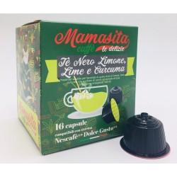 Thè nero Limone, Lime e Curcuma Mamasita - compatibile Nescafé Dolce Gusto MAMASITA CAFFÈ