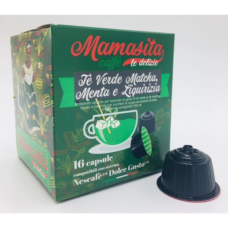 Thè Verde Matcha, Menta e Liquirizia Mamasita - compatibile Nescafé Dolce Gusto Capsule compatibili Dolce Gusto
