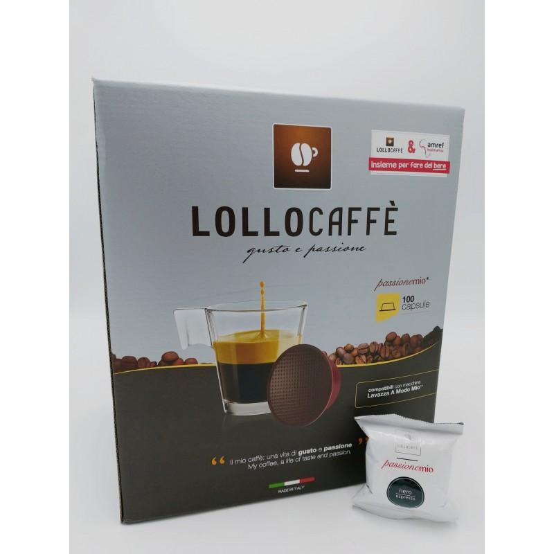 Caffè Nero Espresso Lollo caffè - compatibile Lavazza a Modo Mio Capsule compatibili A Modo Mio