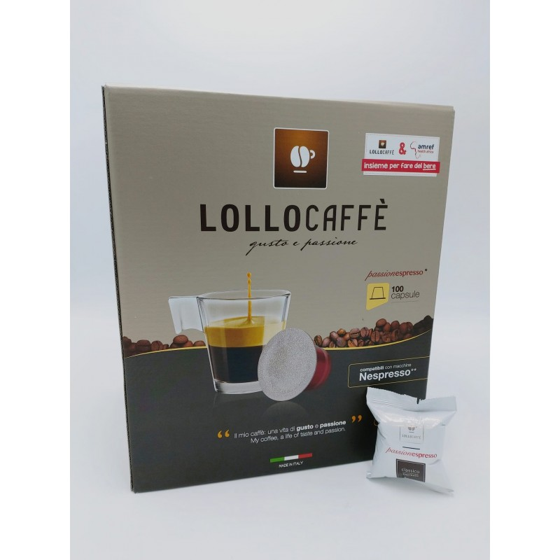 Nespresso Lollo Classico Espresso Capsule compatibili macchina Nespresso
