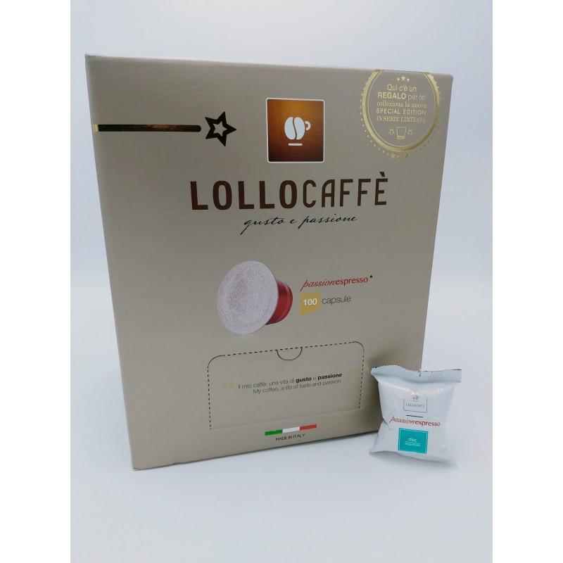 Nespresso Lollo Dek Espresso 100 PZ Capsule compatibili macchina Nespresso