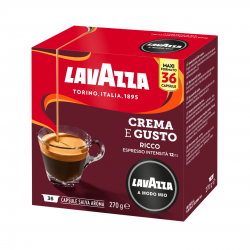 Espresso Crema e gusto Ricco Lavazza a Modo Mio Capsule A Modo Mio