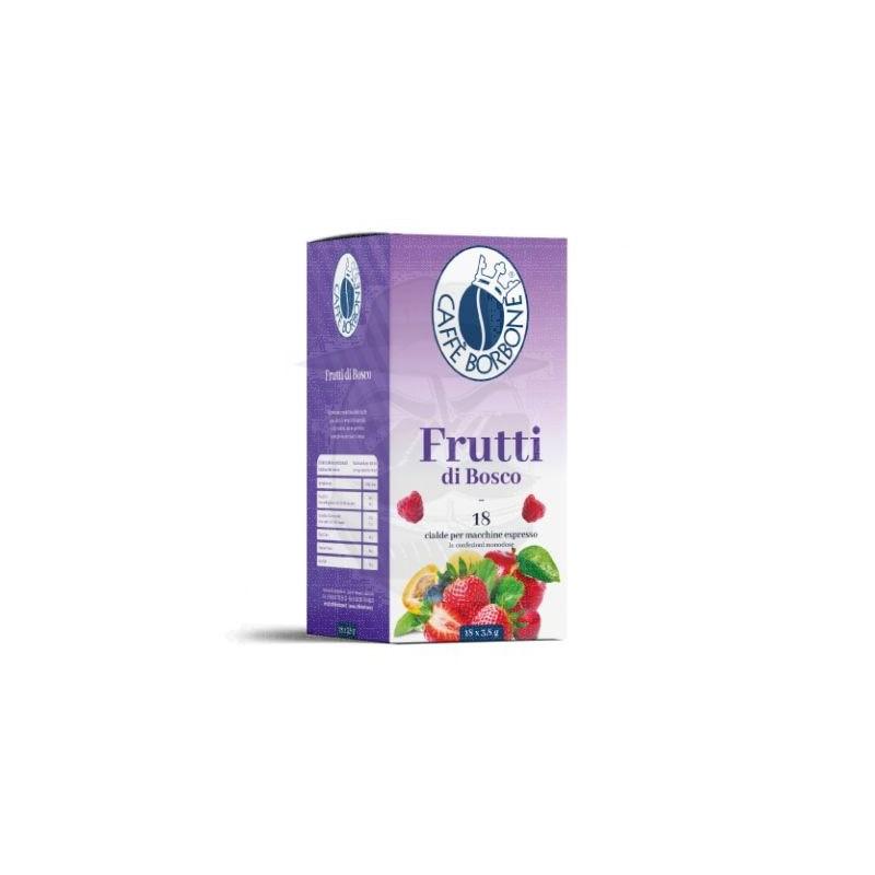 Cialda in carta filtro Caffè Borbone Infuso ai Frutti di Bosco 18 PZ Cialde carta 44 mm E.s.e.