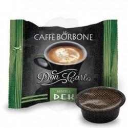 Capsula Caffè Borbone Don Carlo miscela Dek 100 PZ Capsule compatibili A Modo Mio