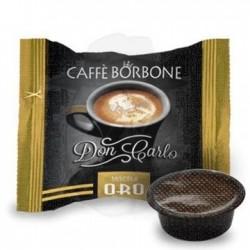 Capsula Caffè Borbone Don Carlo miscela Oro 100 PZ Capsule compatibili A Modo Mio