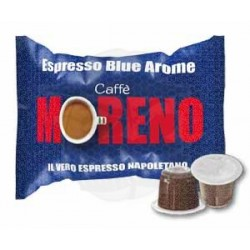 Caps Nespresso Moreno Espresso Blue Arome 100 PZ Capsule compatibili macchina Nespresso