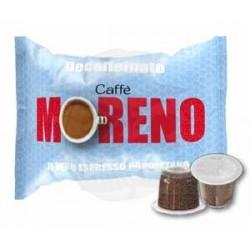 Caps Nespresso Moreno Espresso Dek 100 PZ Capsule compatibili macchina Nespresso