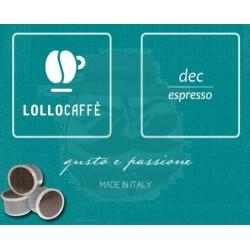 Capsula Lollo Caffè Dec Espresso 100 PZ Capsule compatibili Espresso Point