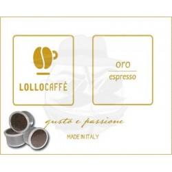 Capsula Lollo Caffè Oro Espresso 100 PZ Capsule compatibili Espresso Point