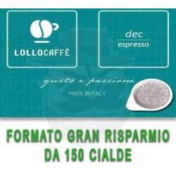 Cialda in carta filtro Lollo Caffè Dec Espresso 150 PZ Cialde carta 44 mm E.s.e.