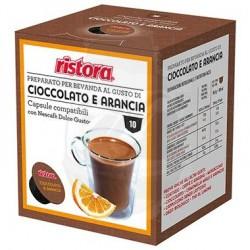 Capsule Ristora Cioccolato e Arancia 10 PZ Capsule compatibili Dolce Gusto
