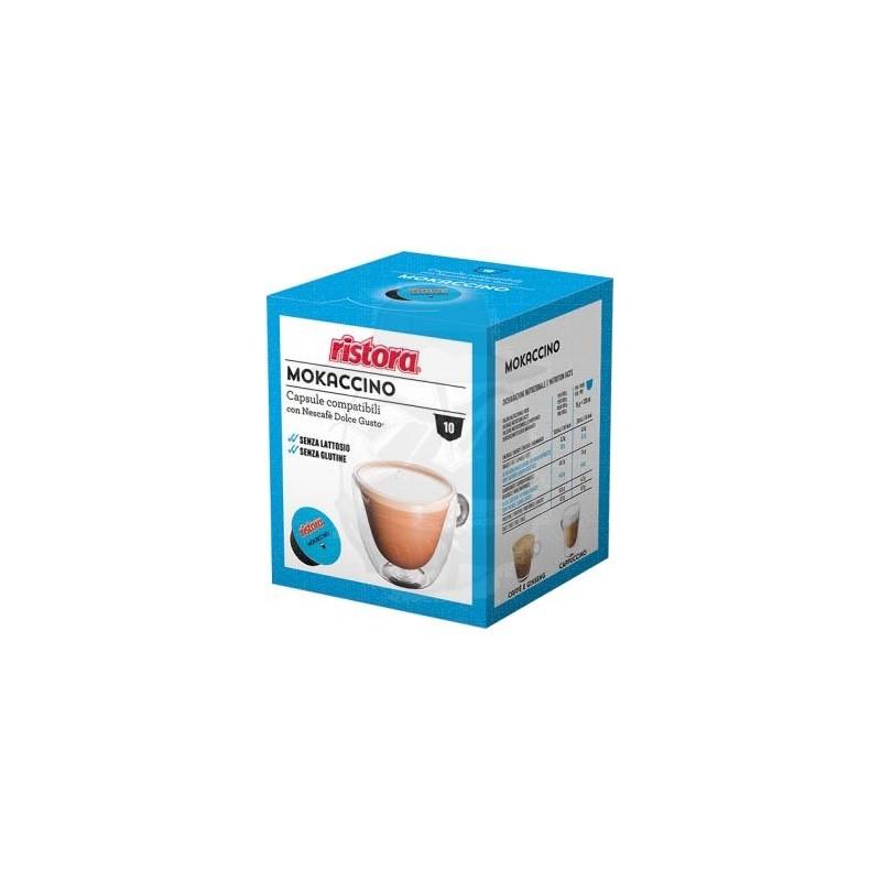 Mokaccino Senza Lattosio Ristora - compatibile Nescafé Dolce Gusto Capsule compatibili Dolce Gusto