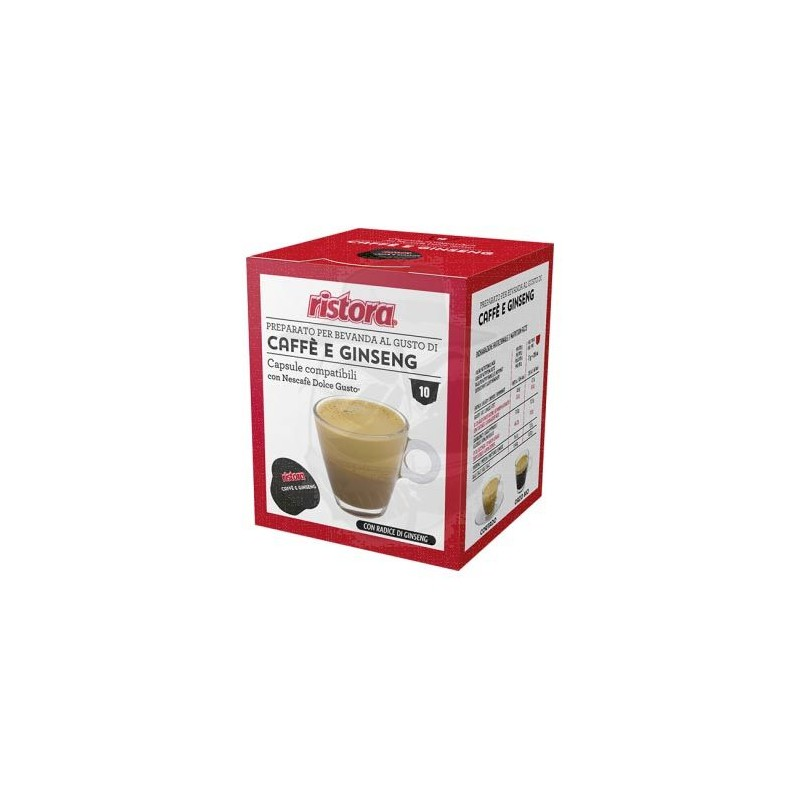 Capsule compatibili Ristora Caffè e Ginseng 10 PZ Capsule compatibili Dolce Gusto