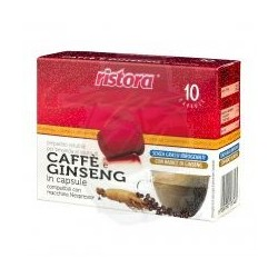 Capsule Ristora Caffè e Ginseng 10 PZ Capsule compatibili Macchina Nespresso