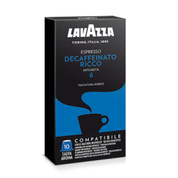 Caps Nespresso Lavazza Dek Ricco 10 pz Capsule compatibili Macchina Nespresso