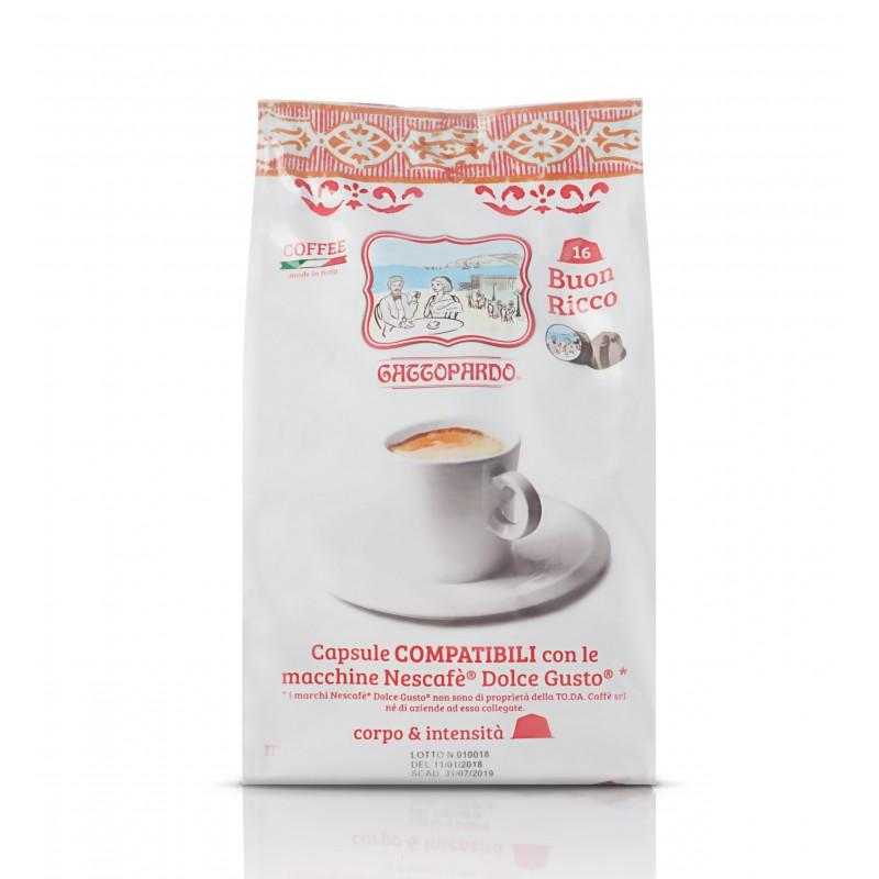 Capsula Gattopardo Buon Ricco 16x8 capsule compatibili dolce gusto