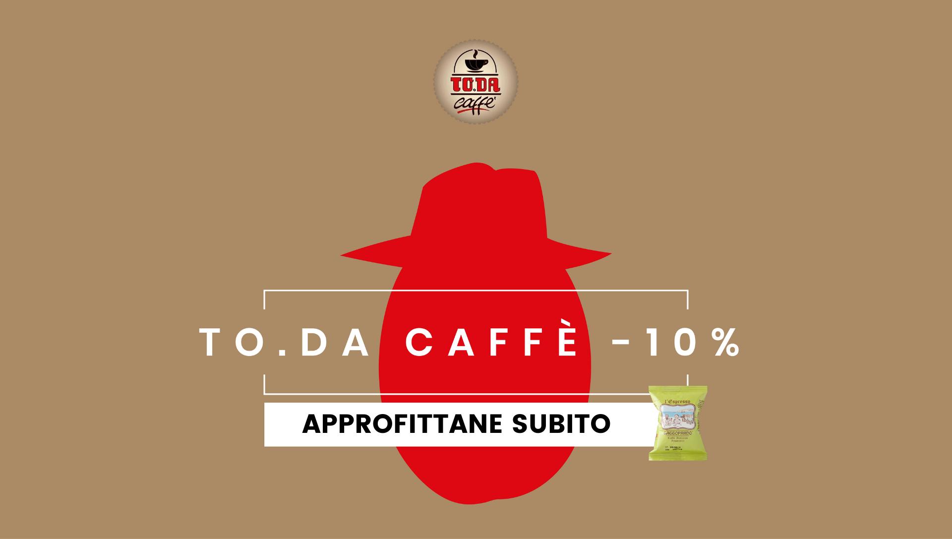 Boss delle cialde To.Da Caffè gattopardo Sconto Prezzi 10% Consegna Gratuita capsule