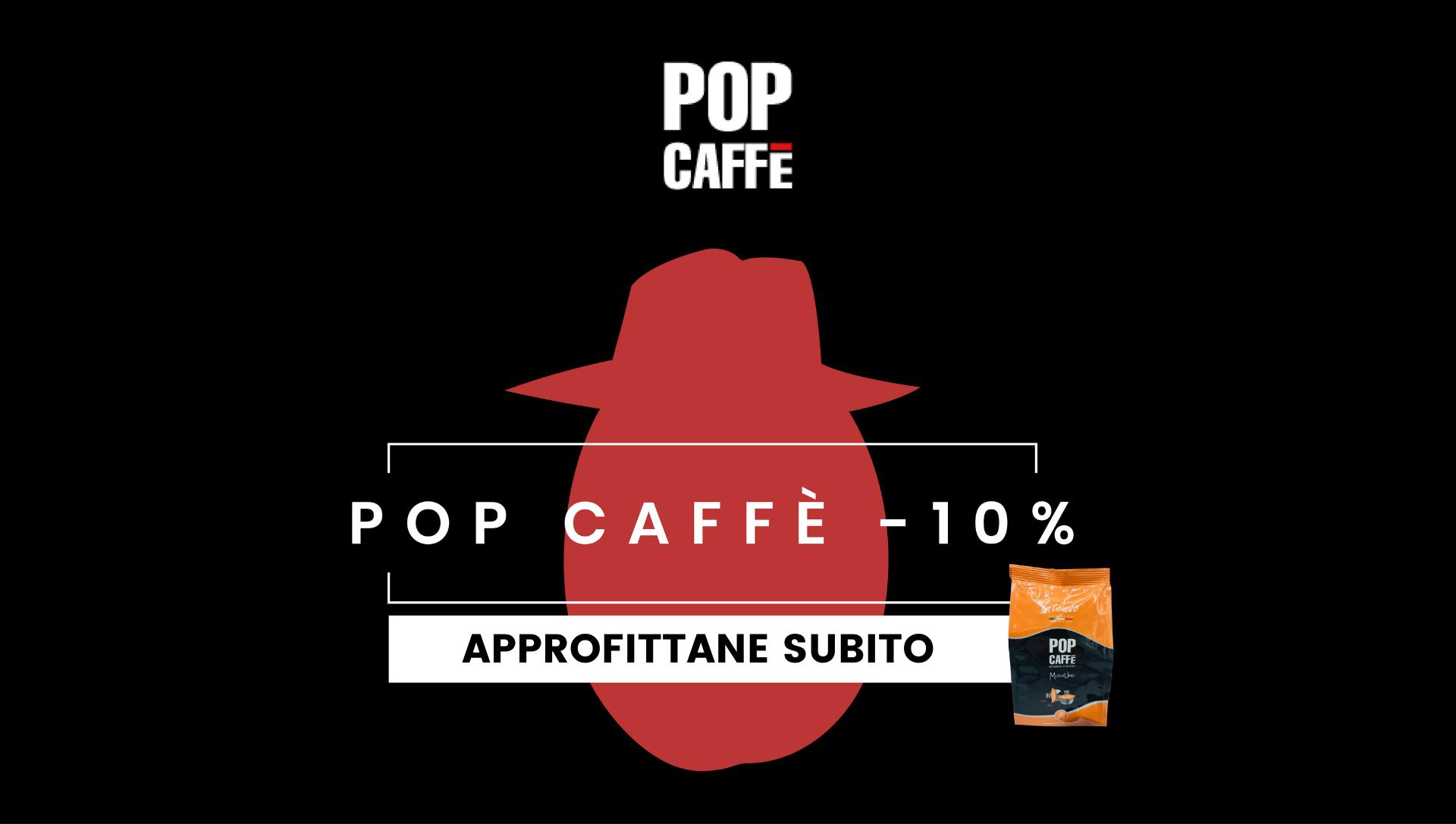 Boss delle cialde Pop Caffè Sconto Prezzi 10% Consegna Gratuita capsule